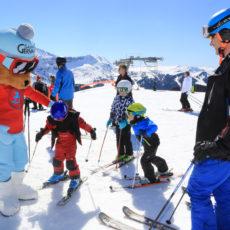 Skier en famille